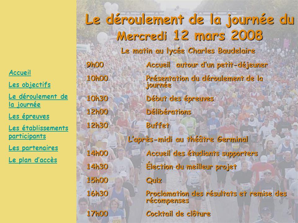 Le déroulement de la journée du Mercredi 12 mars 2008
