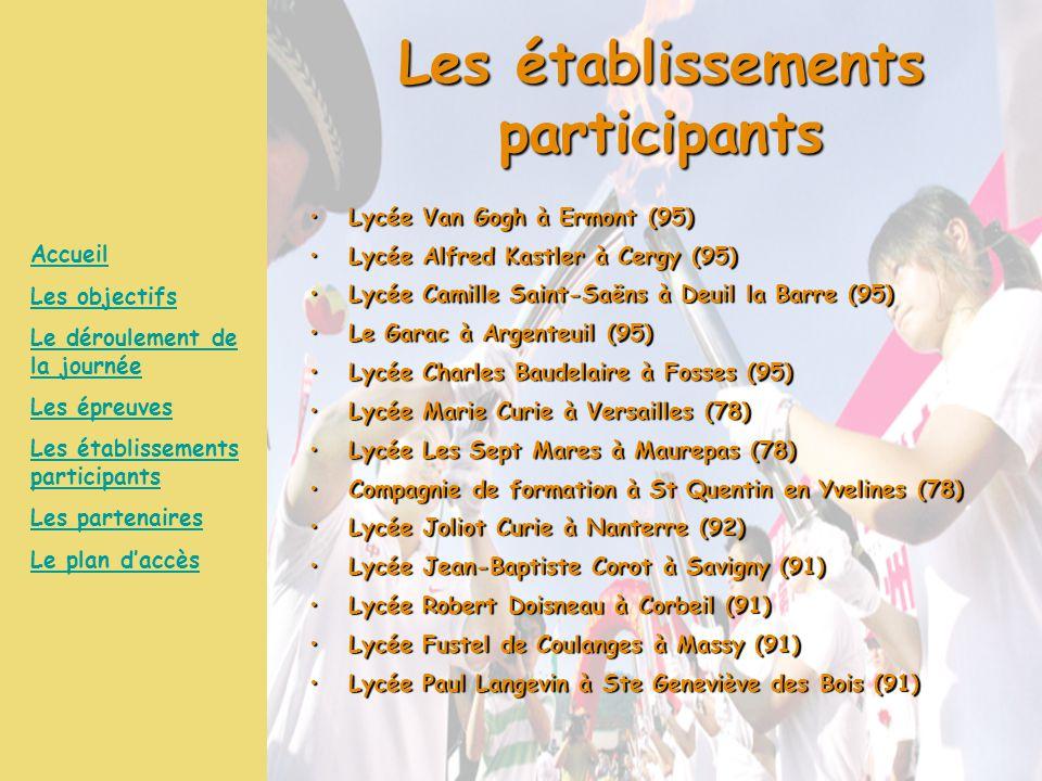 Les établissements participants