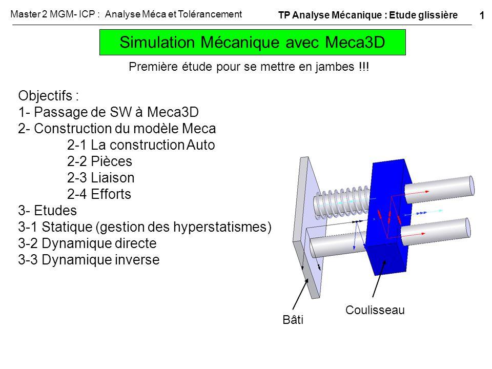 Simulation Mécanique avec Meca3D