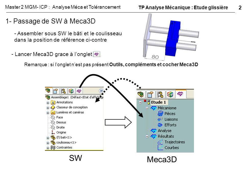 SW Meca3D 1- Passage de SW à Meca3D 2