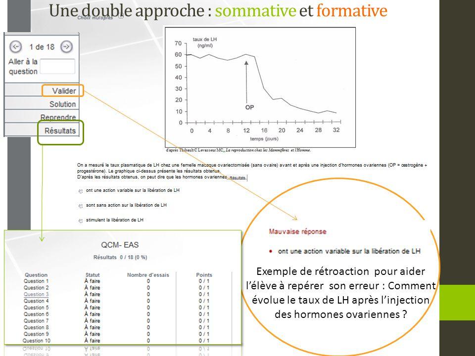 Une double approche : sommative et formative