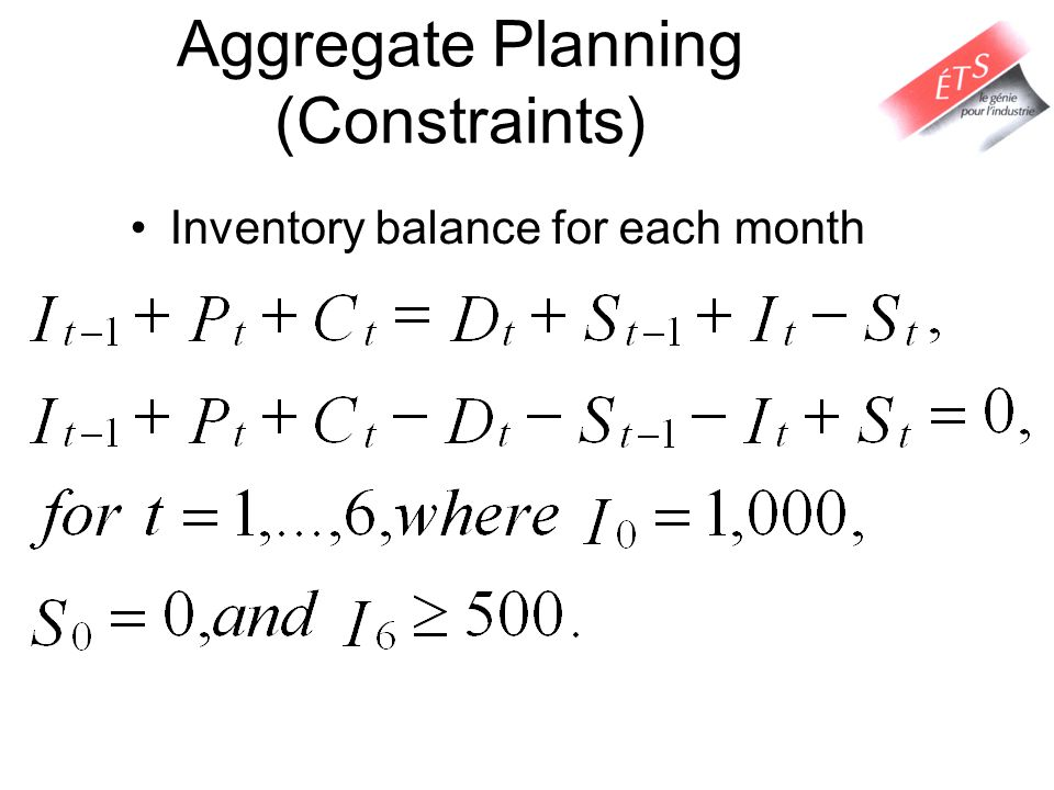 Aggregate Planning (Constraints)