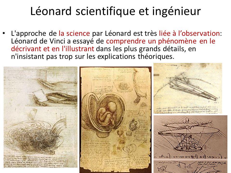 Léonard scientifique et ingénieur