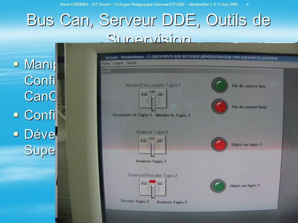 Bus Can, Serveur DDE, Outils de Supervision