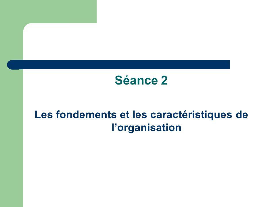 Les fondements et les caractéristiques de l'organisation