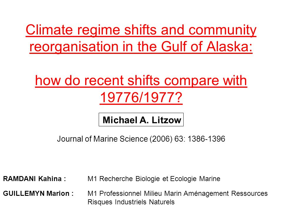 Journal of Marine Science (2006) 63: 1386-1396