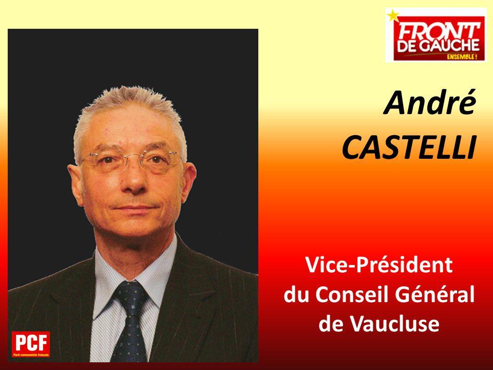 André CASTELLI Vice-Président du Conseil Général de Vaucluse