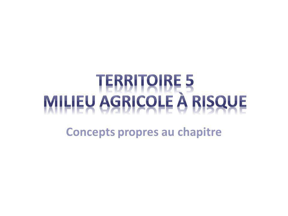 TERRITOIRE 5 MILIEU AGRICOLE À RISQUE