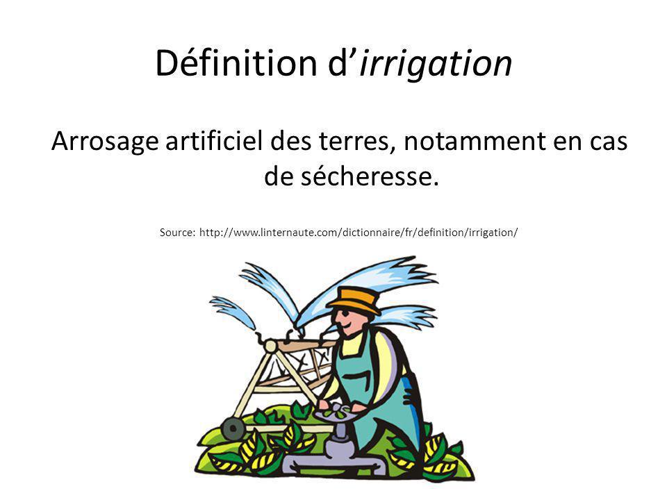 Définition d'irrigation