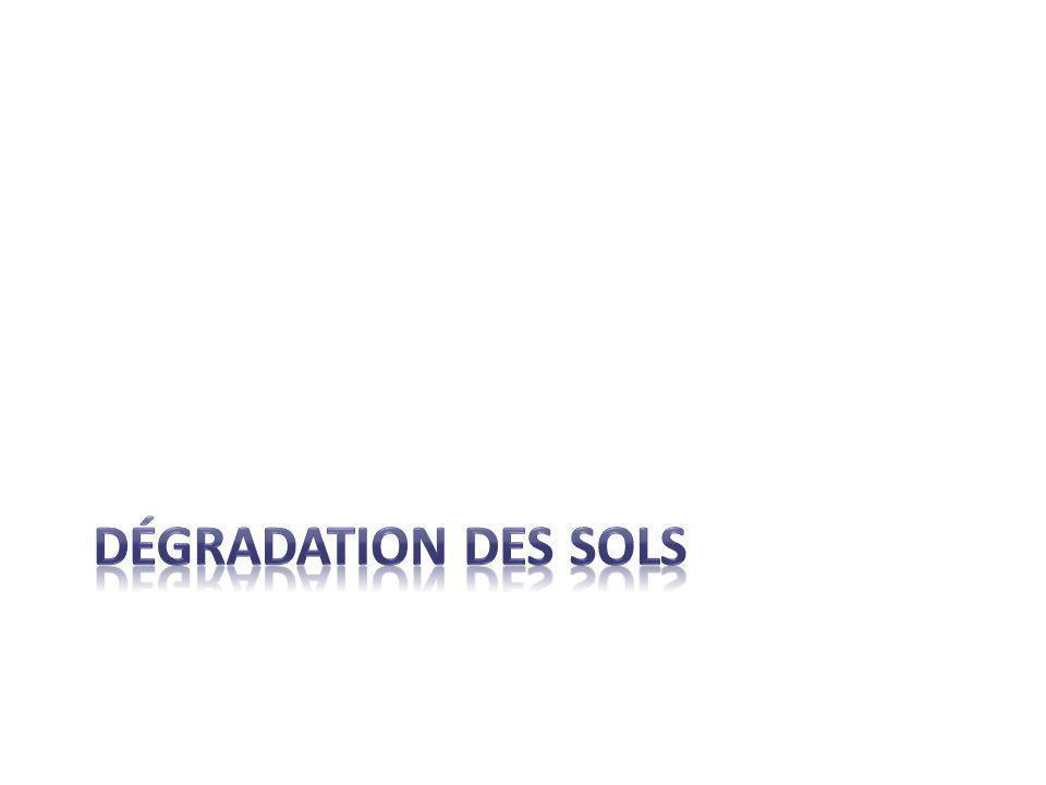 déGRADATION DES SOLS