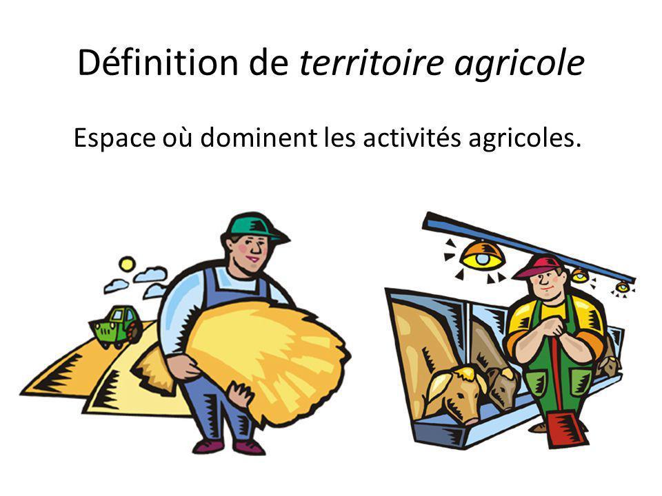 Définition de territoire agricole