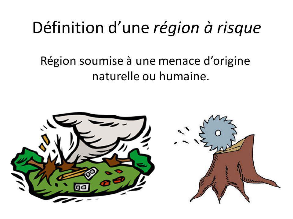 Définition d'une région à risque