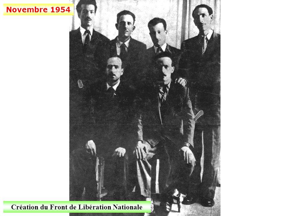 Création du Front de Libération Nationale