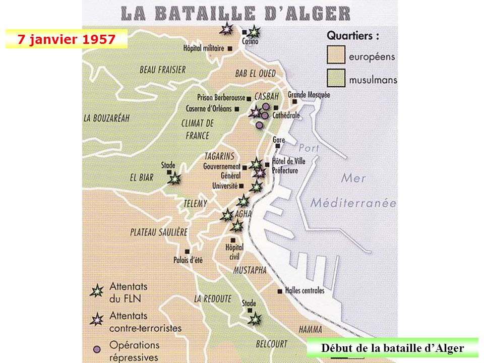 Début de la bataille d'Alger
