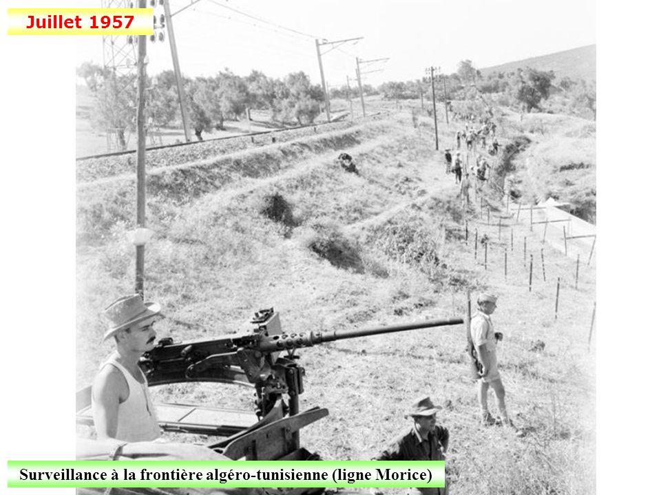 Surveillance à la frontière algéro-tunisienne (ligne Morice)