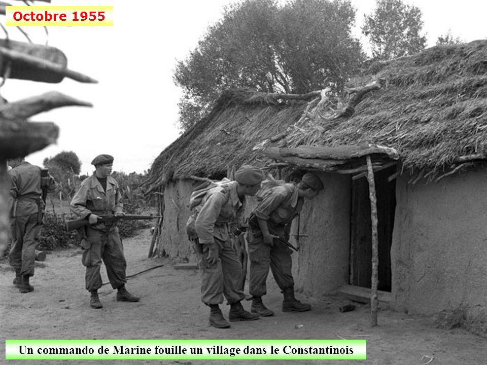Un commando de Marine fouille un village dans le Constantinois