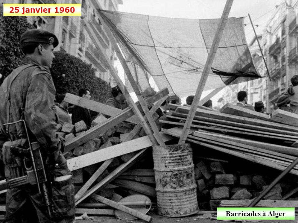 25 janvier 1960 Barricades à Alger