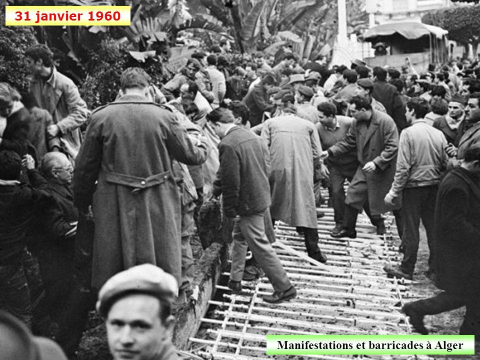 Manifestations et barricades à Alger