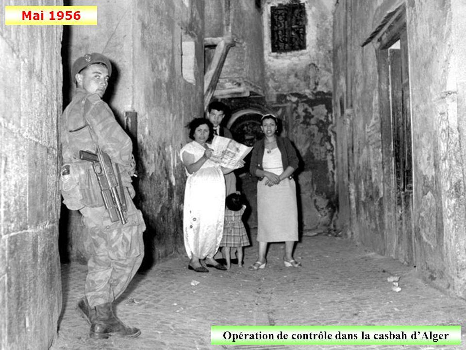 Opération de contrôle dans la casbah d'Alger