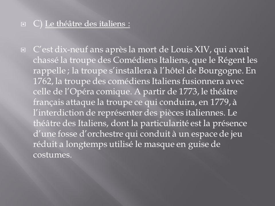 C) Le théâtre des italiens :