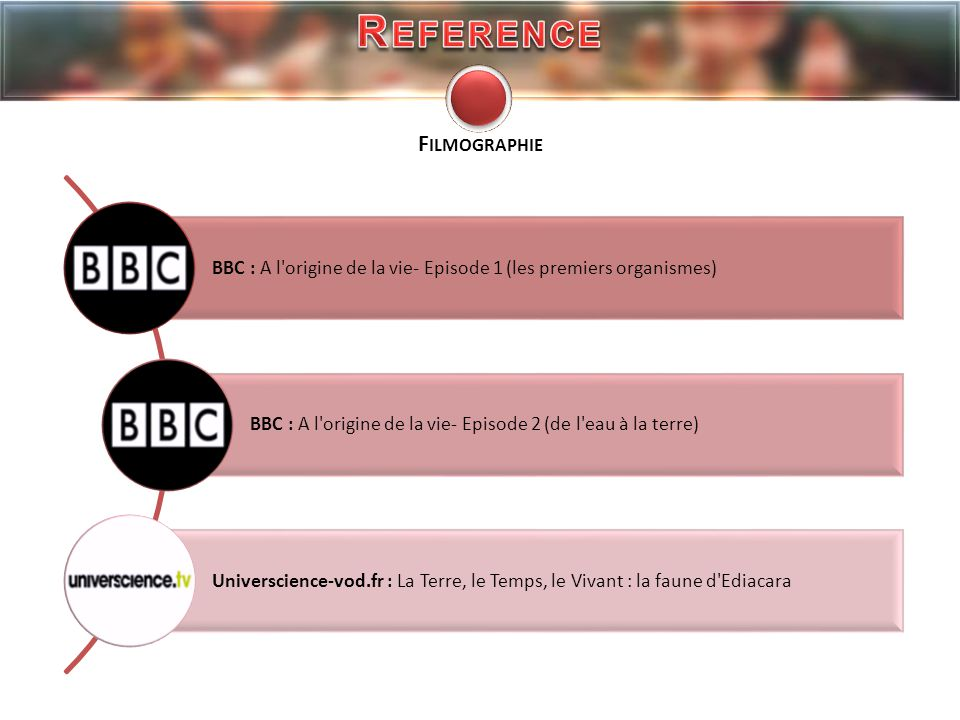 Reference Filmographie