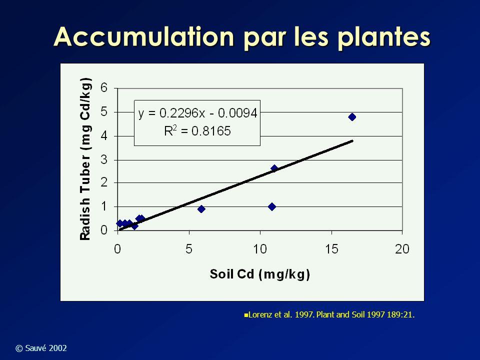 Accumulation par les plantes