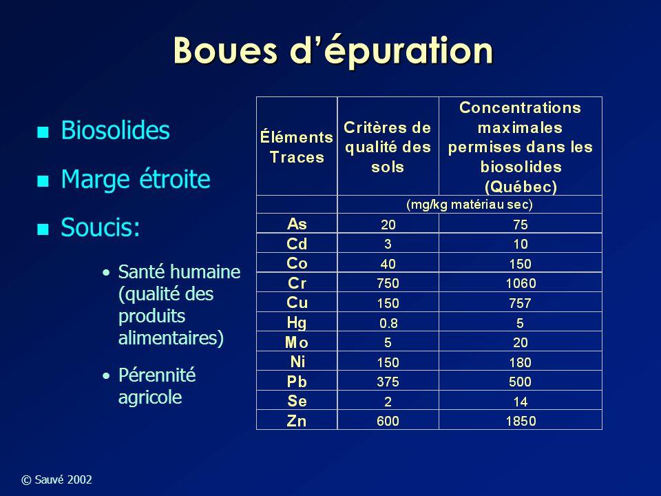 Boues d'épuration Biosolides Marge étroite Soucis: