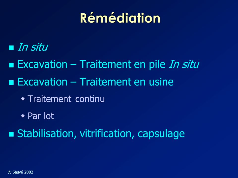 Rémédiation In situ Excavation – Traitement en pile In situ