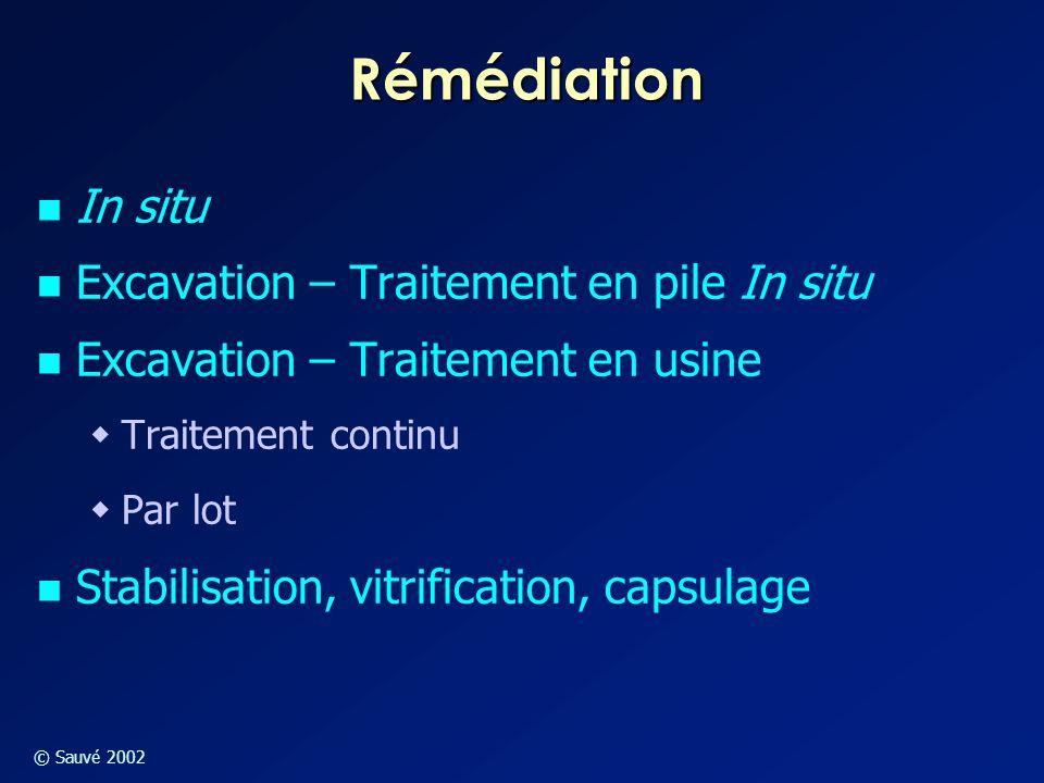 Rémédiation In situ Excavation – Traitement en pile In situ