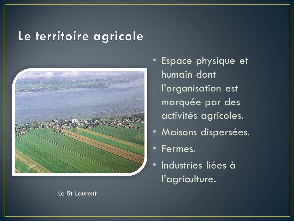 Le territoire agricole