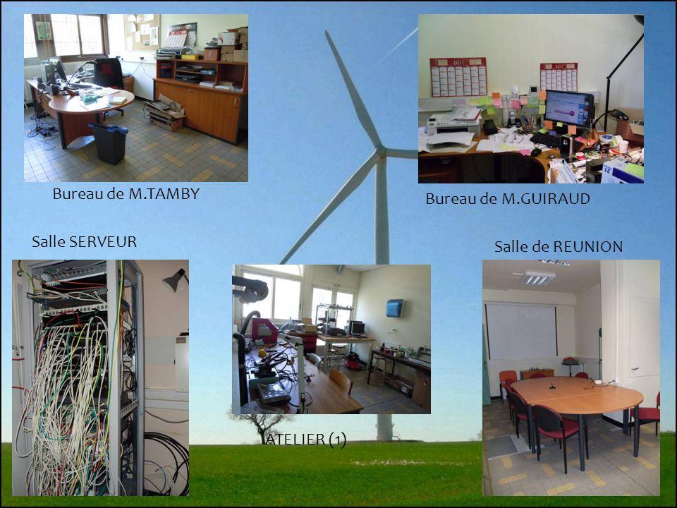 Bureau de M.TAMBY Bureau de M.GUIRAUD Salle SERVEUR Salle de REUNION ATELIER (1)