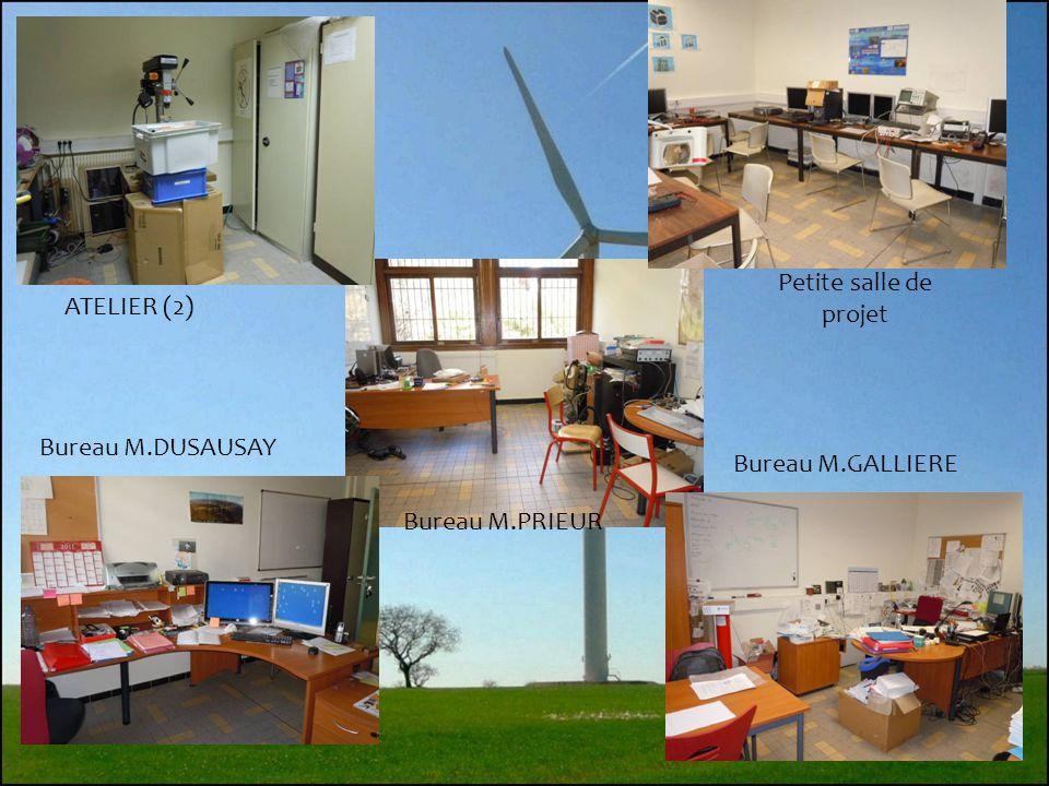 Petite salle de projet ATELIER (2) Bureau M.DUSAUSAY Bureau M.GALLIERE Bureau M.PRIEUR