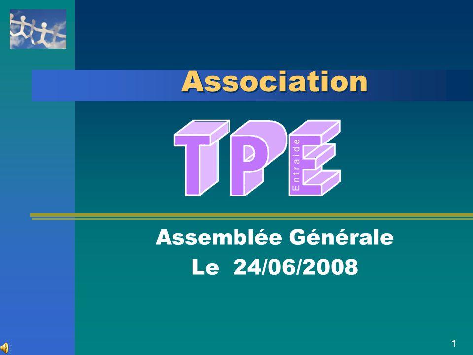 Assemblée Générale Le 24/06/2008