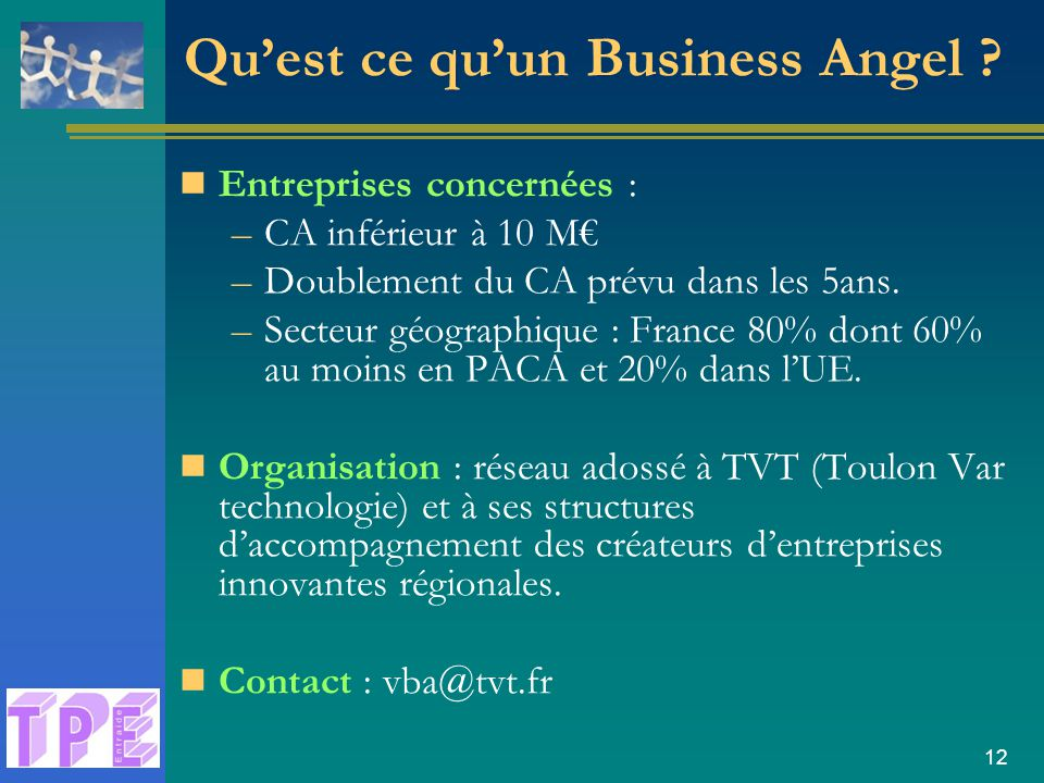 Qu'est ce qu'un Business Angel