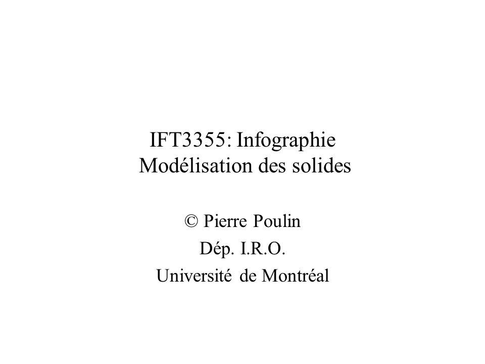 IFT3355: Infographie Modélisation des solides