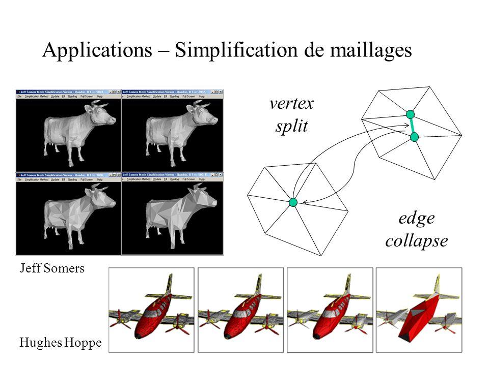 Applications – Simplification de maillages