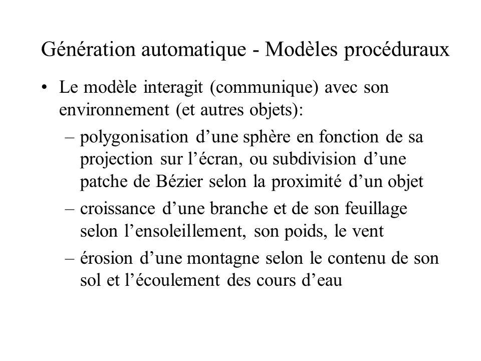 Génération automatique - Modèles procéduraux
