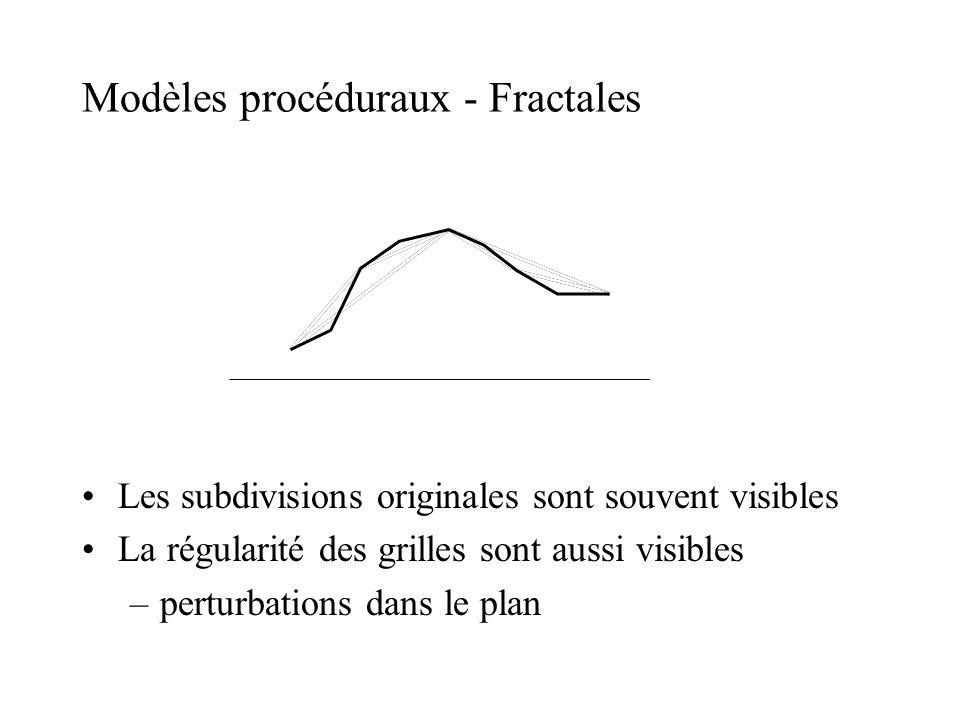 Modèles procéduraux - Fractales