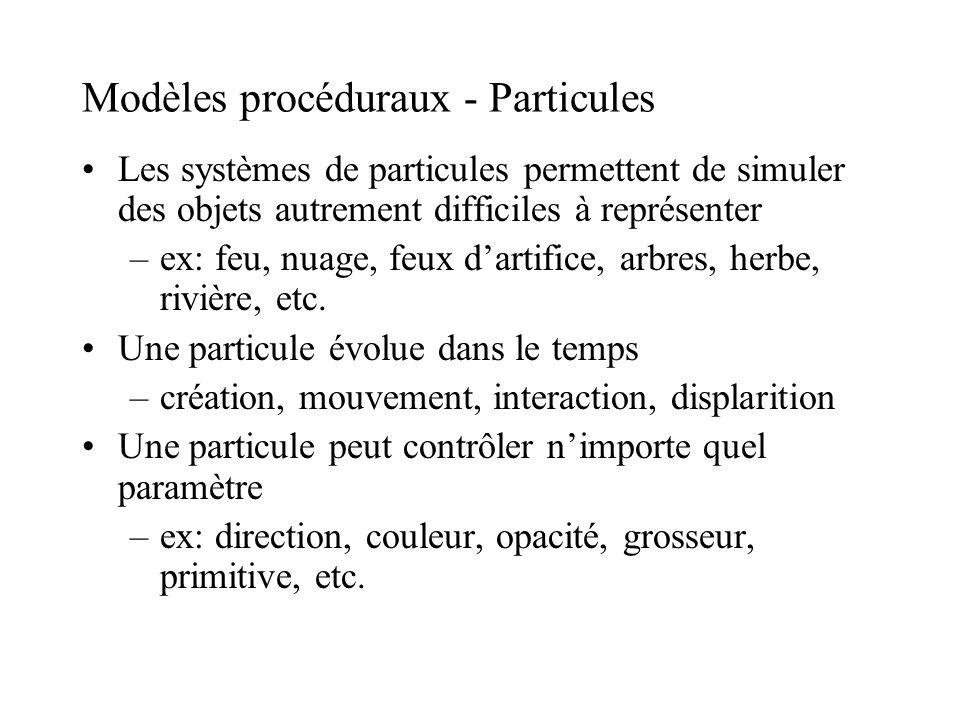 Modèles procéduraux - Particules