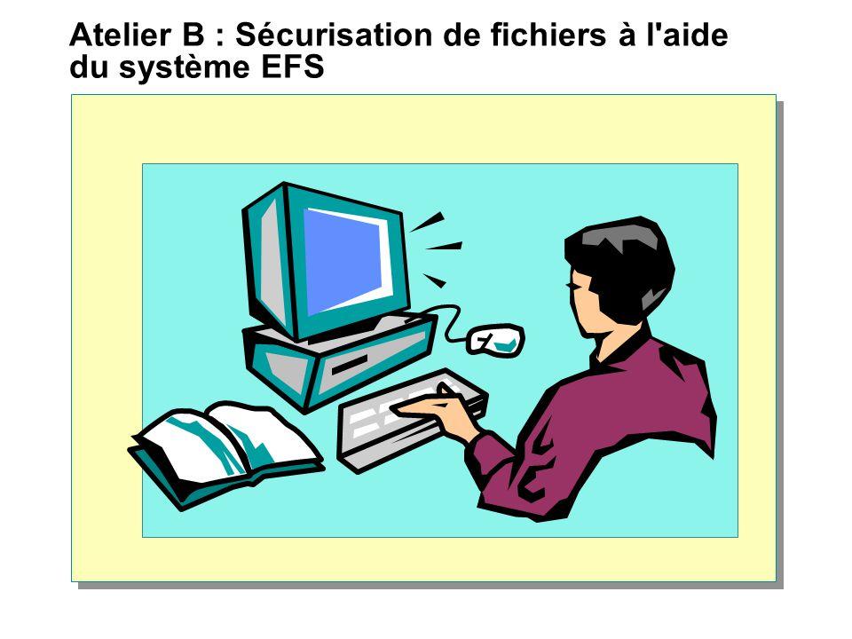 Atelier B : Sécurisation de fichiers à l aide du système EFS