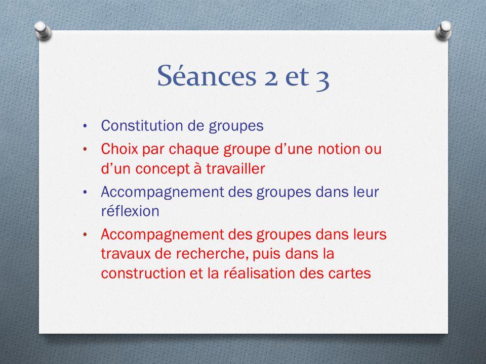 Séances 2 et 3 Constitution de groupes