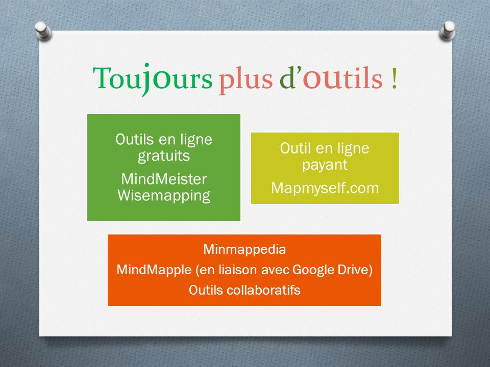 Toujours plus d'outils !