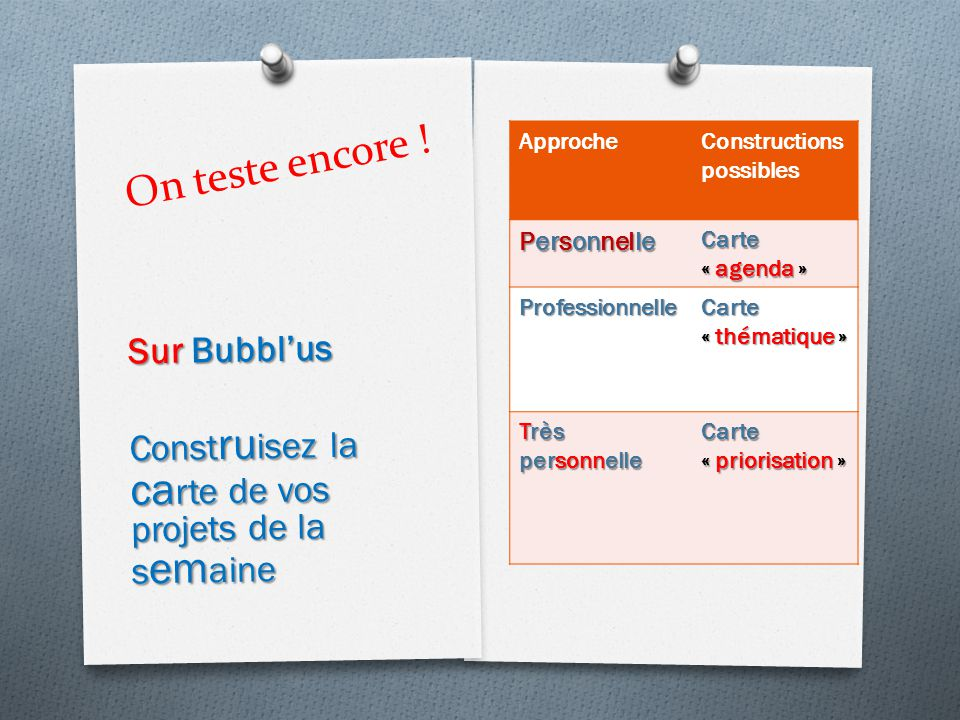 On teste encore ! Sur Bubbl'us
