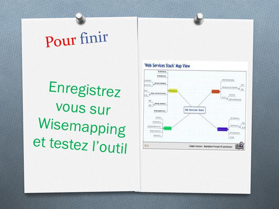 Enregistrez vous sur Wisemapping et testez l'outil