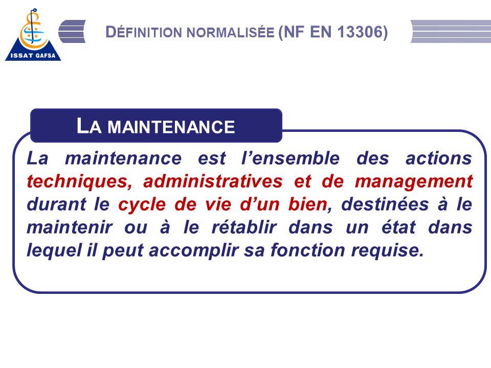 Définition normalisée (NF EN 13306)