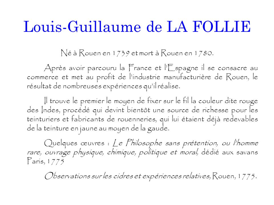 Louis-Guillaume de LA FOLLIE