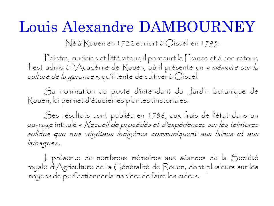 Louis Alexandre DAMBOURNEY