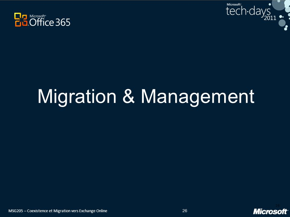 Migration & Management