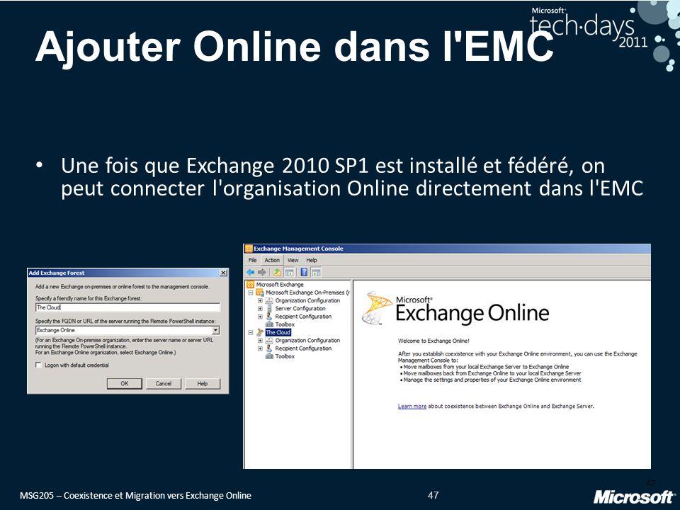 Ajouter Online dans l EMC