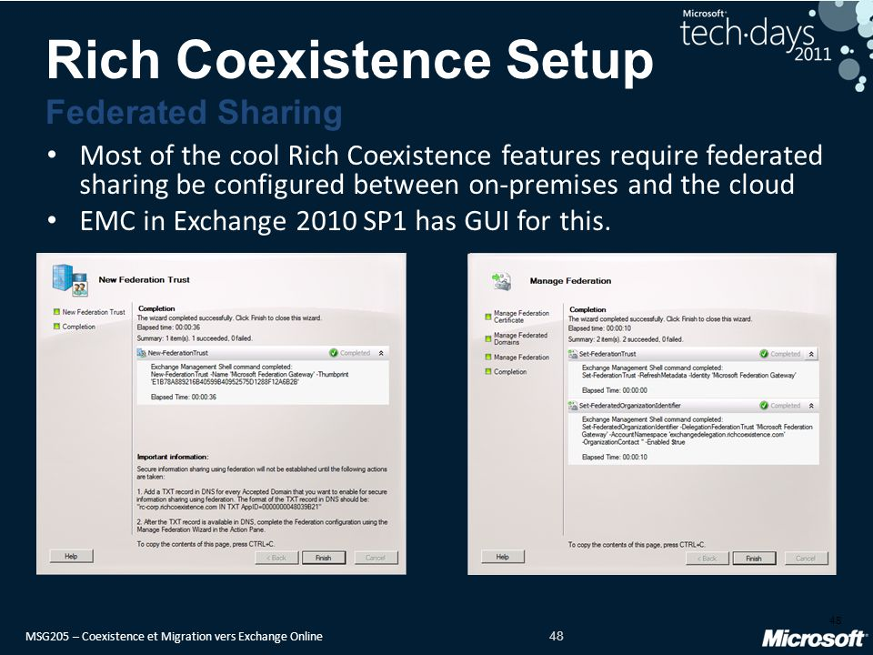 Rich Coexistence Setup Federated Sharing